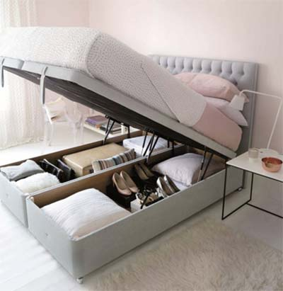 Divan-style ottoman bed