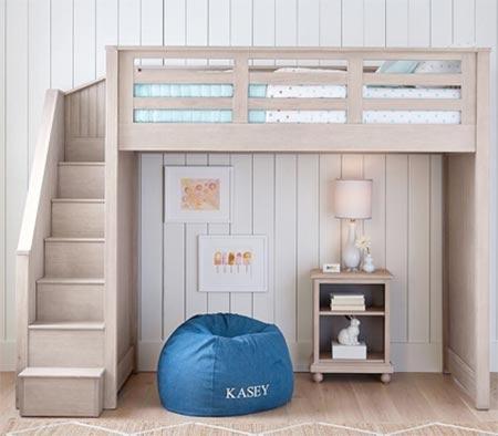 Loft-style bunk bed