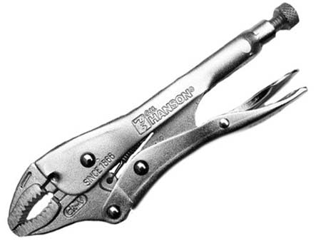 Mole grips or locking pliers
