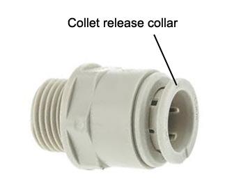 Pushfit collet release collar
