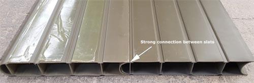 Composite fence panels slot together