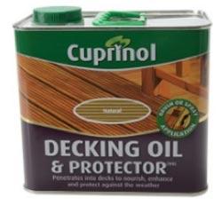 Cuprinol decking oil for treating decking
