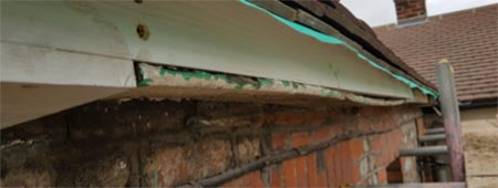 Replacing timber facia and soffit boards