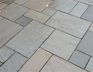 Patios can be laid to all shapes and sizes