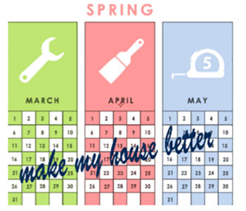 Spring months are ideal for DIY