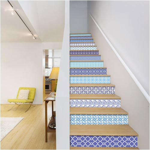 Victorian-style stair stickers