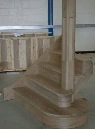 Triple curtail used to make stairs