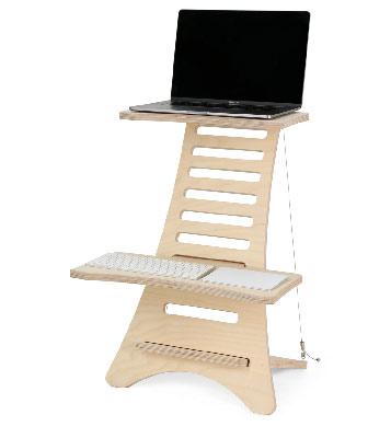Converter or frame to convert standard desk into standing desk