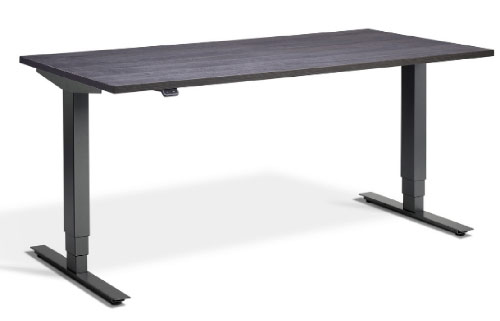 Electronically adjusted sit-stand desk