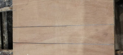 Horizontals marked to define correct size for shelf mortise to be cut to