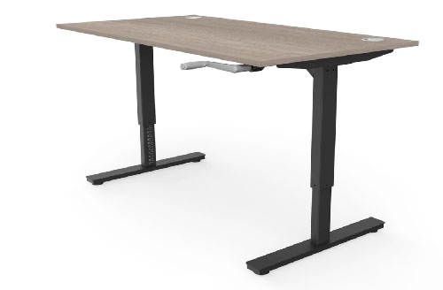 Manual wind up and down standing desk