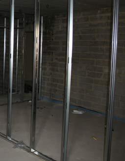 Steel stud partition framework