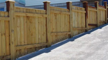 Stepped closeboard fence