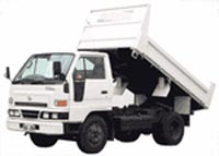 Typical lorry used for delivering scalpings