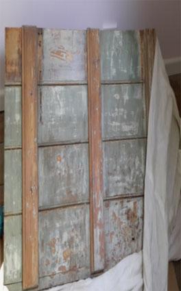 Milk paint on door