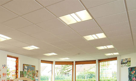 Large suspended ceiling