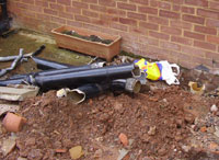 Fitting a new soil and vent toilet waste pipe how to fit for Underground drainage layouts