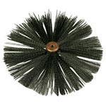 Chimney sweeping brush