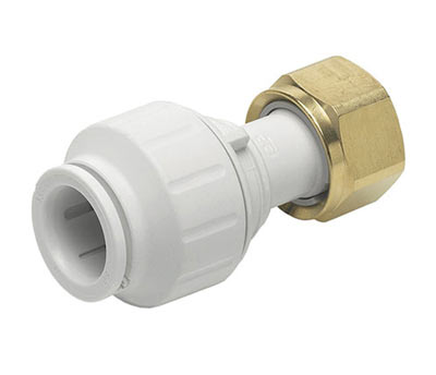 Twist lock push fit tap connector