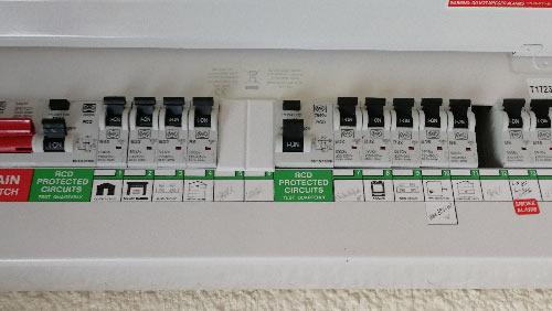 MCB's present in a modern consumer unit
