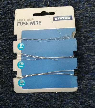 Replacement fuse wire for rewirable fuses