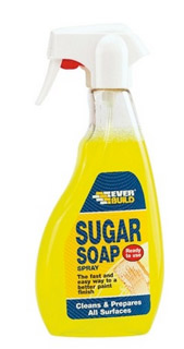 Sugar soap for cleaning down ceramic tiled walls