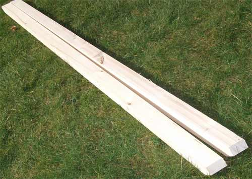 Piece of bowed timber