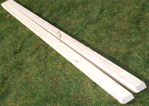 Piece of bowed timber