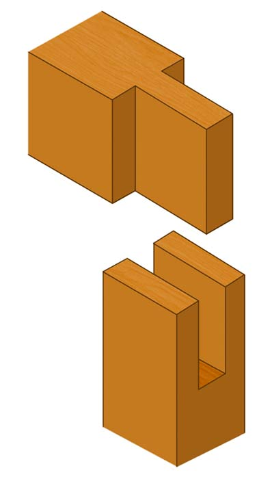 Corner bridle joint