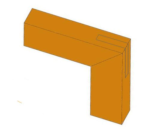 Mitered corner bridle joint