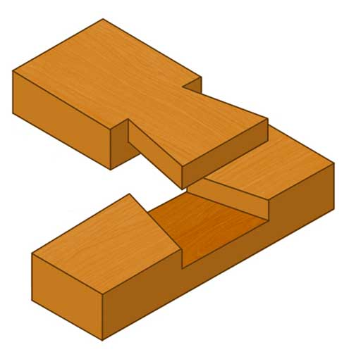 Dovetail halving joint