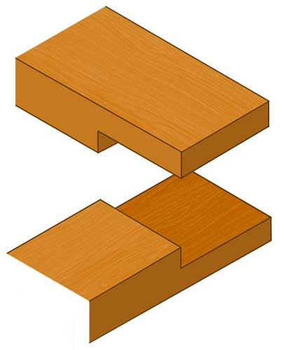 Corner or Half lap halving joint