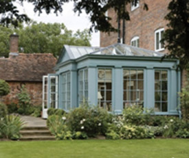 Large traditional timber conservatory
