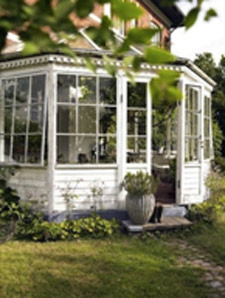 Modern style timber conservatory exterior