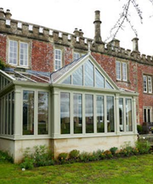 Traditional style timber conservatory