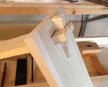 Keyed or Tusk mortise and tenon