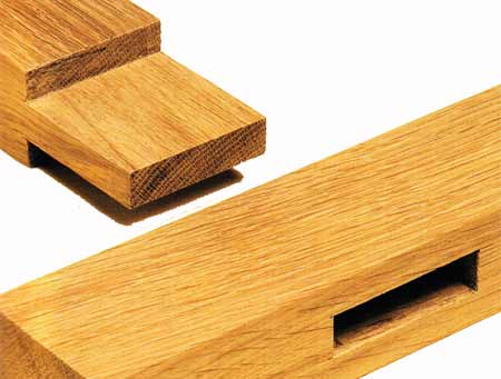 Standard mortise and tenon joint