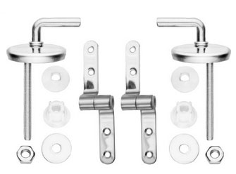 Stanless steel toilet seat fitting kit