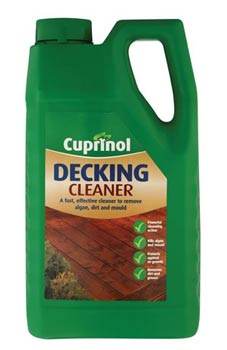 Dedicated decking cleaner