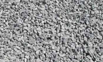 Standard aggregate includes sand and gravel