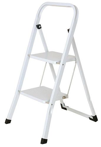 Small 2-rung folding step ladder