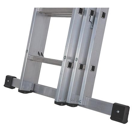 Stabiliser bar for extension ladder