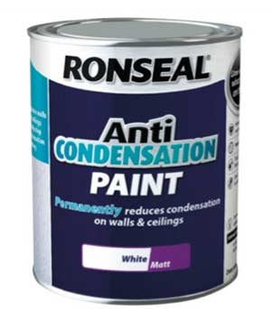 Anti condensation paint for bathrooms