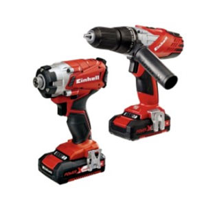 Combination drill and impact driver set