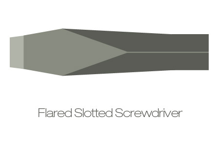 Flared slotted screwdriver