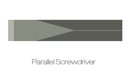 Parallel slotted screwdriver