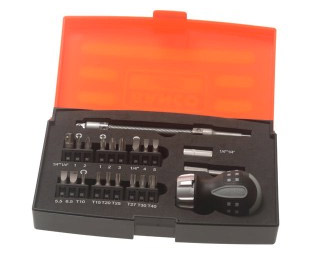Ratchet screwdriver kit with 22 pieces