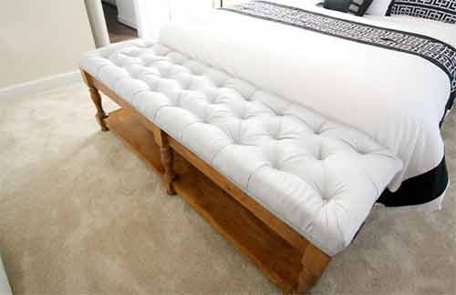 Diamond button tufted bench