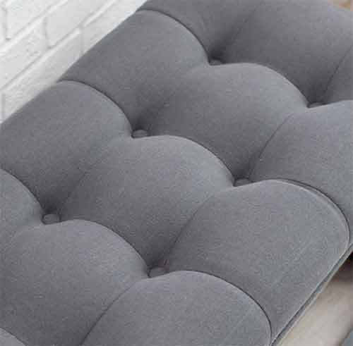 Biscuit tufted bench