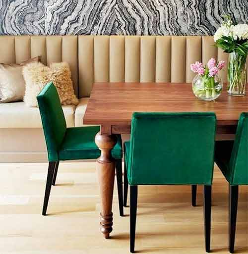 Channel tufted dinning room